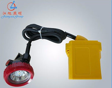 China Bright Rechargeable Miners Headlamp ,  High Standard Led Miners Lamp Red / Yellow supplier