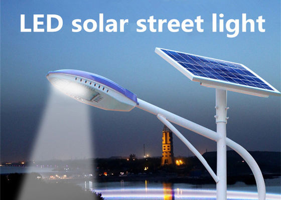 China Solar Powered Street Lamp High Pressure Die - Casting Aluminum , Commercial Solar Street Lights 3000 - 6500K supplier