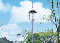 Modern Square Garden Pole Lights , Solar Post Decorative Street Lighting High Brightness