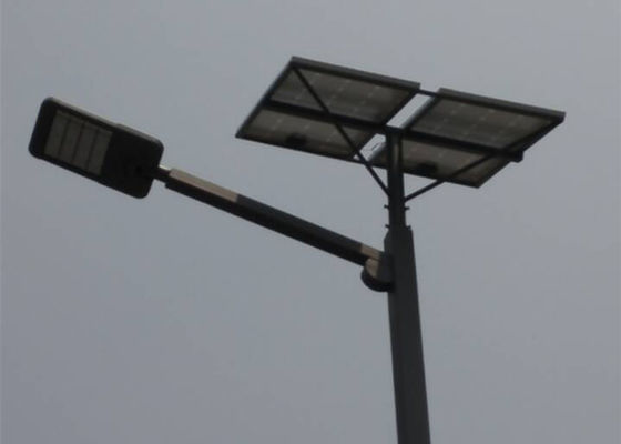 80 / 85W High Brightness Solar Powered LED Street Lights Metal Aluminum Energy Saving
