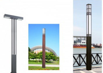 Campus / Garden Bollard Lights , Scenic Area Commercial Led Pole Lights High Standard