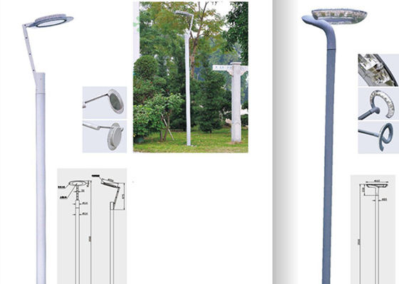 30W  Residential Street Lights Antique Style Anticorrosion Antirust Pole Height Customized